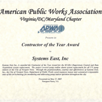 Contractor of the Year Award – APWA
