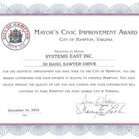 Mayor's Civic Improvement Award